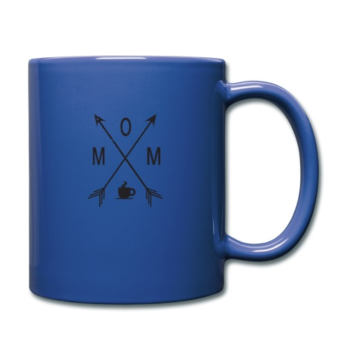 Mom Loves Coffee (black ink) - Full Color Mug