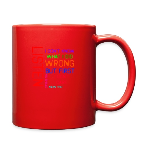 I don't care - Full Color Mug
