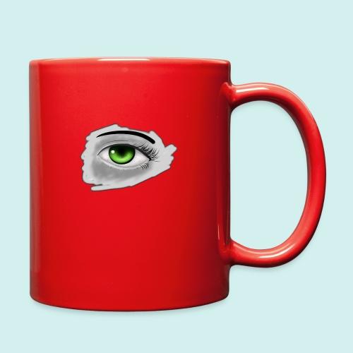 Realist Anime green eye - Full Color Mug