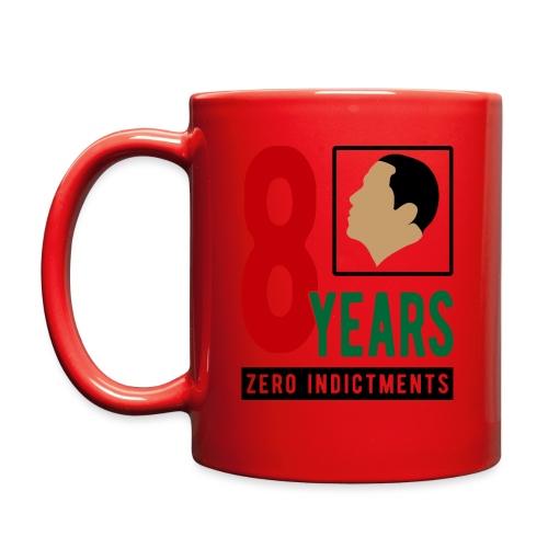 Obama Zero Indictments - Full Color Mug