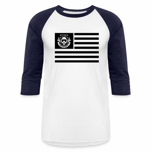 PTSD Flag - Baseball T-Shirt