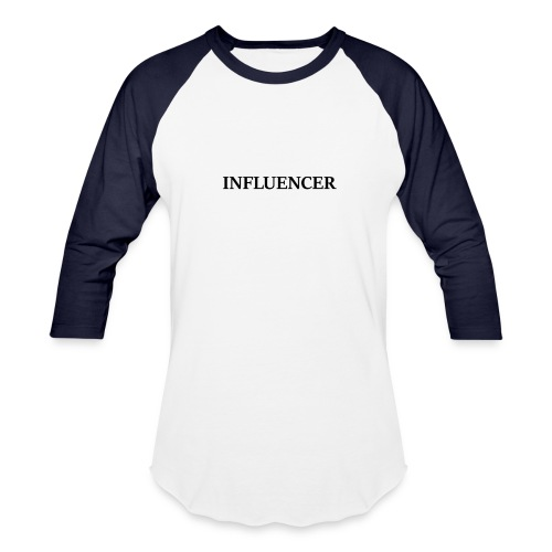 influencer black - Baseball T-Shirt