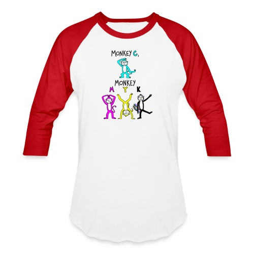 monkey see myk - Baseball T-Shirt
