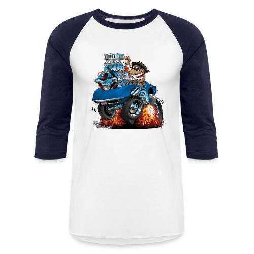 Classic '69 American Sports Car Cartoon - Baseball T-Shirt