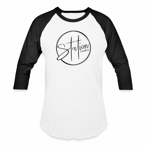 Black Logo - Baseball T-Shirt
