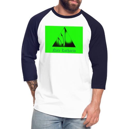 Lime Green Logo - Unisex Baseball T-Shirt