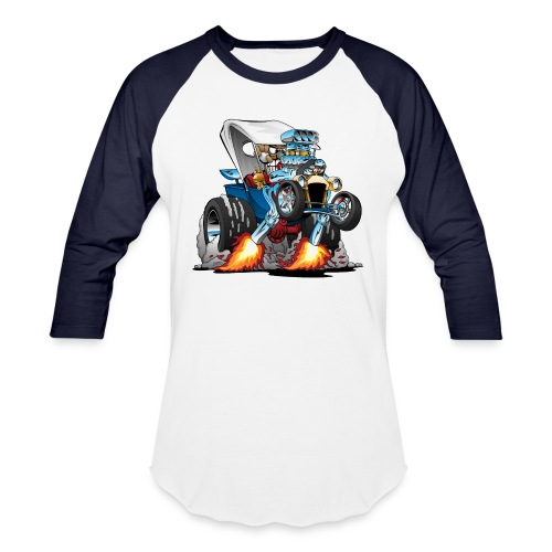 Custom T-bucket Roadster Hotrod Cartoon - Baseball T-Shirt