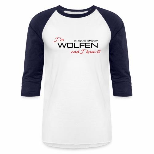 Wolfen Attitude on Light - Unisex Baseball T-Shirt