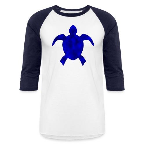 Sea turtle blue - Baseball T-Shirt