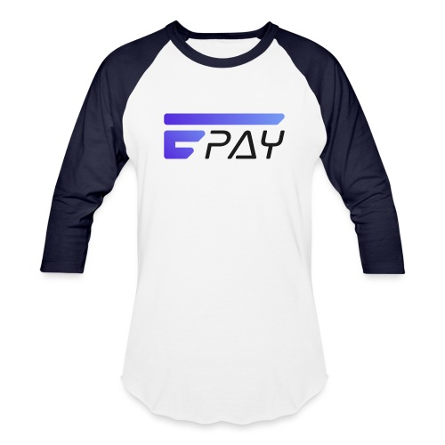 EUNOPAY LOGO BLACK FONT - Unisex Baseball T-Shirt