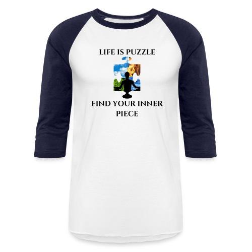 TRANSPARENT life is puzzel 1 png - Unisex Baseball T-Shirt