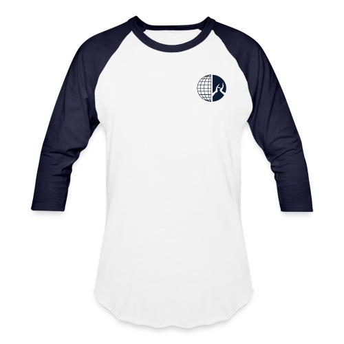 DMI Logo Dark Blue - Unisex Baseball T-Shirt