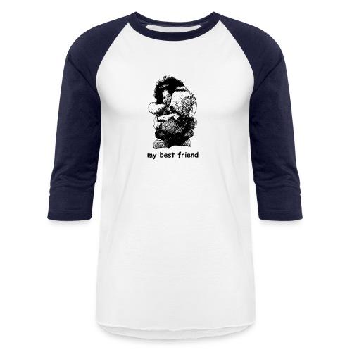 My best friend (girl) - Unisex Baseball T-Shirt