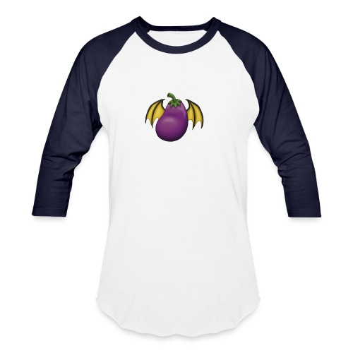 Eggplant Logo - Unisex Baseball T-Shirt