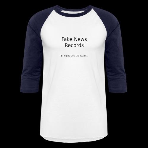 fake news records merch - Baseball T-Shirt