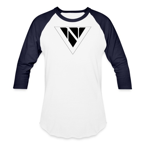 nick vance black on white png - Unisex Baseball T-Shirt