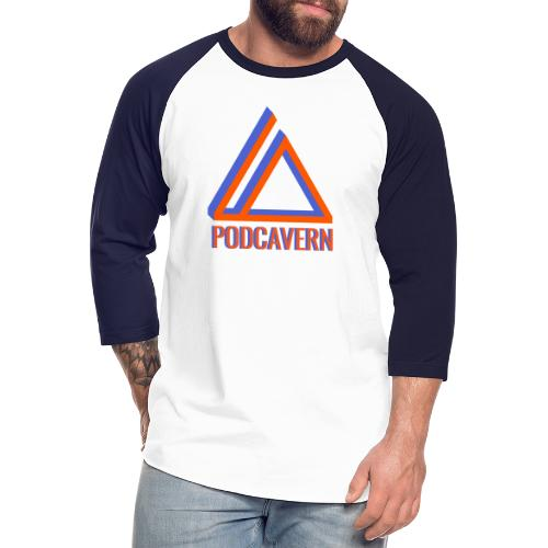 PodCavern Logo - Unisex Baseball T-Shirt