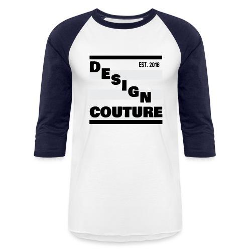 DESIGN COUTURE EST 2016 BLACK - Unisex Baseball T-Shirt