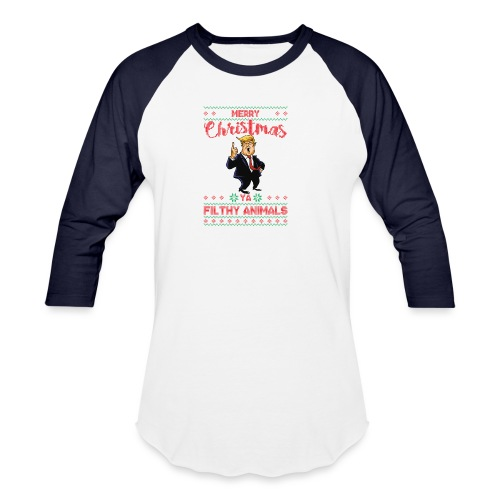MEERRY CHRISTMAS YA FILTHY ANIMALS - Baseball T-Shirt