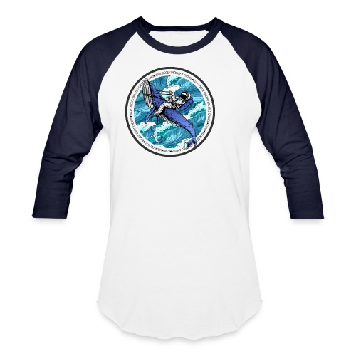 Astronaut Whale - Baseball T-Shirt