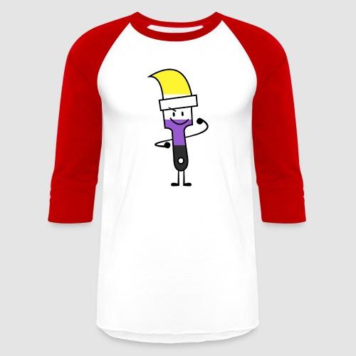 Paintbrush Pride - Unisex Baseball T-Shirt