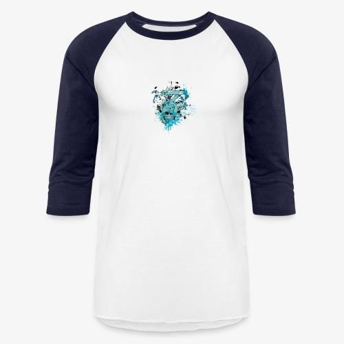 Blue Skull - Baseball T-Shirt