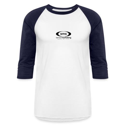SMS Black Logo - Baseball T-Shirt