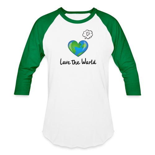 Love the World - Unisex Baseball T-Shirt