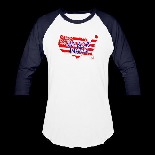 GOD BLESS AMERICA - Unisex Baseball T-Shirt