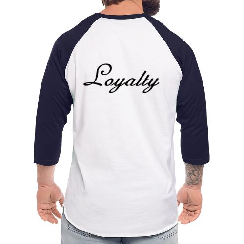 Loyalty Brand Items - Black Color - Unisex Baseball T-Shirt