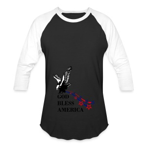 CUSTOM DESIGN GOD BLESS AMERICA - Baseball T-Shirt