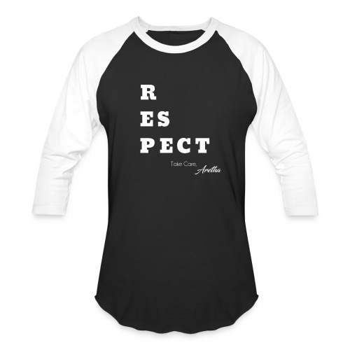 Respect Aretha - Baseball T-Shirt