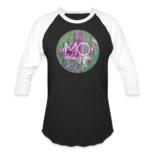 •MO• designs Purple Logo - Baseball T-Shirt