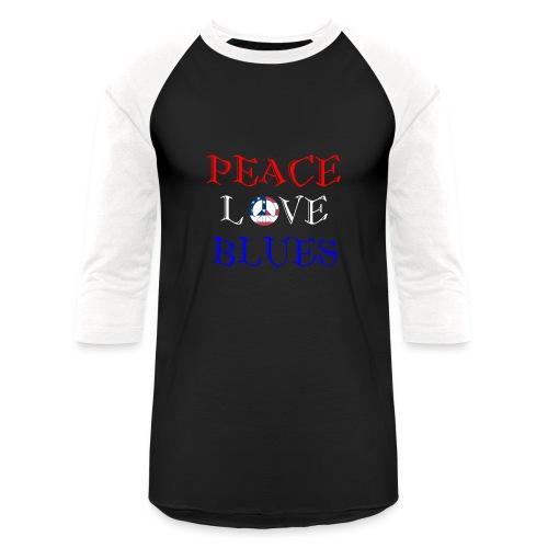 Peace, Love and Blues - Baseball T-Shirt