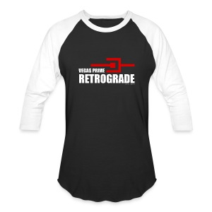 Vegas Prime Retrograde - Title and Hack Symbol - Baseball T-Shirt