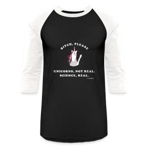 Unicorn loves science - Baseball T-Shirt