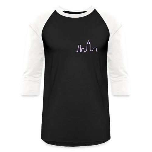 City Scape Neon Lights - Baseball T-Shirt