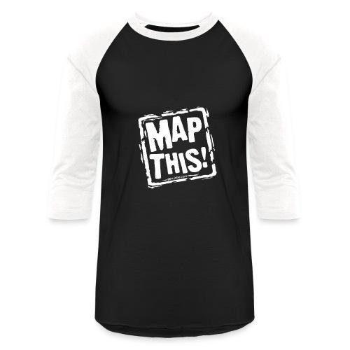 MapThis! White Stamp Logo - Baseball T-Shirt