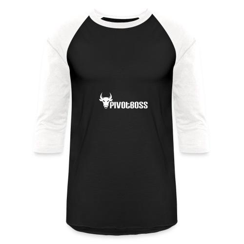 PivotBoss White Logo - Baseball T-Shirt