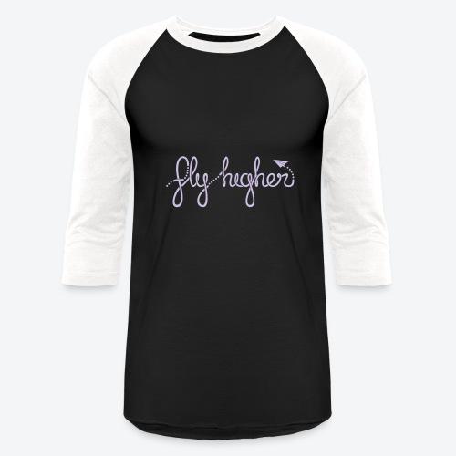 Fly Higher - Light Purple - Baseball T-Shirt