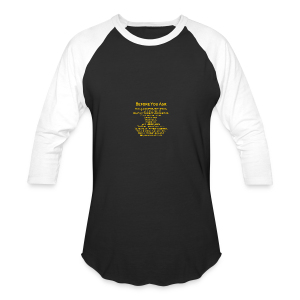 tshirt_pilotVersion_nologo_gold - Baseball T-Shirt