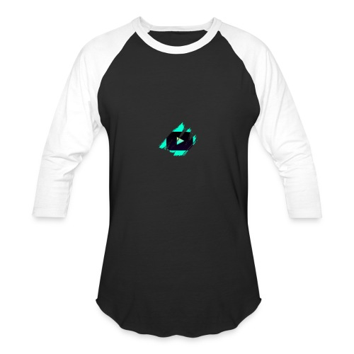 DRFT Clothing: Cyan Youtube is Life - Small Badge - Baseball T-Shirt