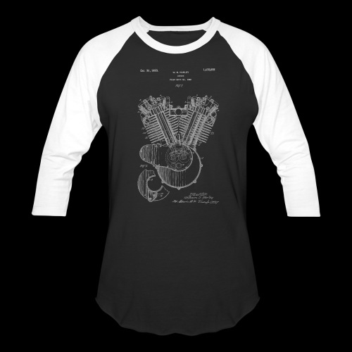 Authentic V-twin HD Motorcycle Engine Patent 1919 - Baseball T-Shirt