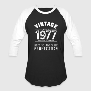 Funny 40th Birthday Present Vintage Made in 1977 - Baseball T-Shirt