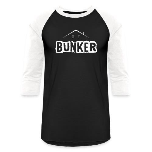 White BUNKER - Baseball T-Shirt