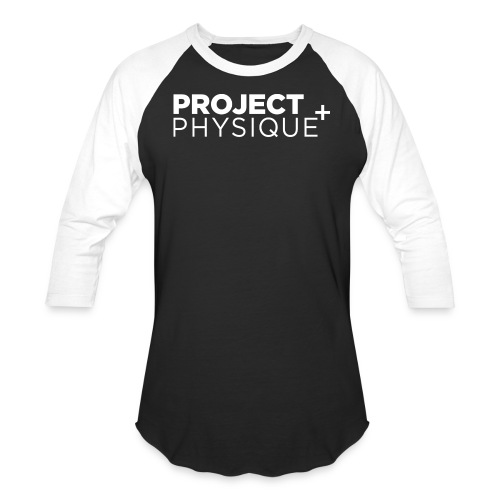 Projet Physique Logo Blanc - T-shirt de baseball pour hommes