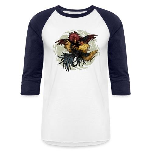 Ying Yang Gallos by Rollinlow - Baseball T-Shirt