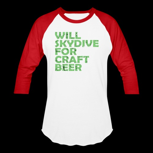 skydive for craft beer - Baseball T-Shirt
