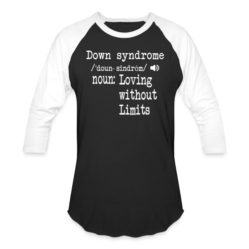 Down syndrome Definition - Baseball T-Shirt