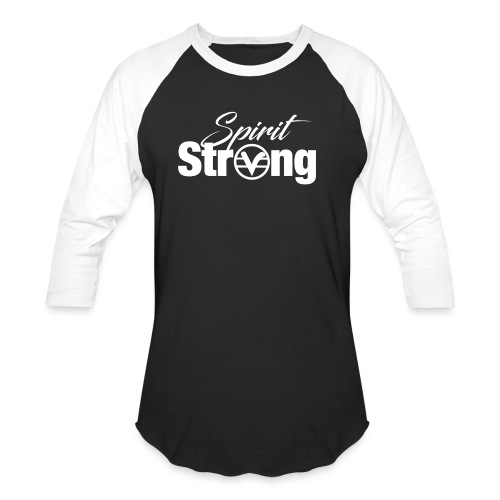 Spirit Strong Tee White (Women V Neck) - Baseball T-Shirt